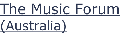 The Music Forum (Australia)